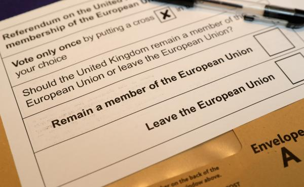 "Voters will decide on the ""Brexit"" question in a June 23 referendum. Postal voting forms are available ahead of time."