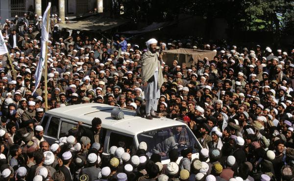 Taliban rally in Kabul, October 1996.