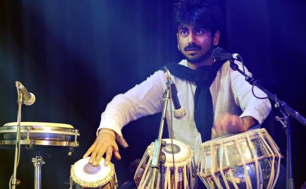 """Talvin Singh at the rehearsal for the """"Cleveland Watkiss at 50"""" concert at Queen Elizabeth Hall on Nov. 19, 2009 during the London Jazz Festival."""
