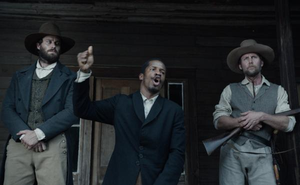 Armie Hammer, Nate Parker and Jayson Warner Smith in The Birth of A Nation