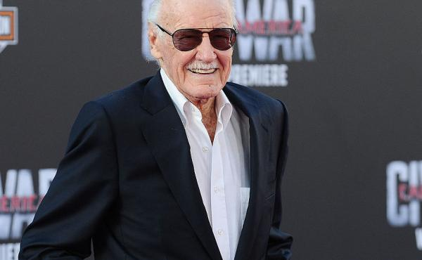 """Stan Lee attends the premiere of """"Captain America: Civil War"""" at Dolby Theatre on April 12, 2016 in Hollywood, Calif."""