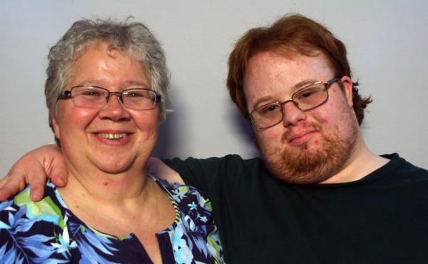 Susan Kaphammer and her son, Joshua Myers, on a recent visit with StoryCorps.