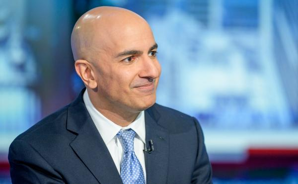 """Minneapolis Federal Reserve Bank President Neel Kashkari visits """"Maria Bartiromo's Wall Street"""" at Fox Business Network Studios on October 11, 2019. Kashkari is calling for a return to mandated lockdowns in every state for up to six weeks in an effort to"""
