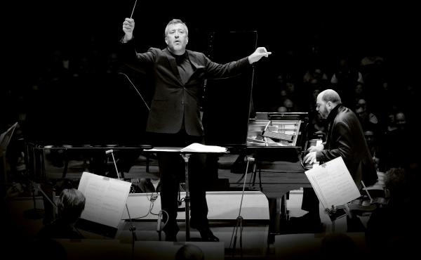 British composer Thomas Adès leads the Boston Symphony Orchestra, and soloist Kirill Gerstein, in the premiere performances of his Concerto for Piano and Orchestra at Symphony Hall in Boston.