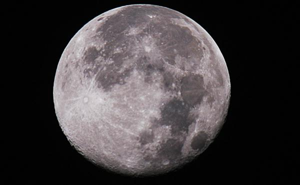The moon is pictured in this image from December 6, 2006. A new study shows the moon's interior might contain water.