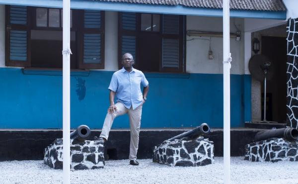 Olasupo Shashore, an author and historian and former attorney general in Lagos State, produced and narrated the new Netflix documentary series Journey of an African Colony: The Making of Nigeria. He's shown above in Lagos, Nigeria.