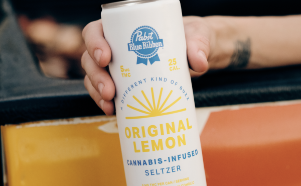 Cans of Pabst Blue Ribbon cannabis-infused lemon seltzer are non-alcoholic, with 5mg of THC. A four-pack costs $24.