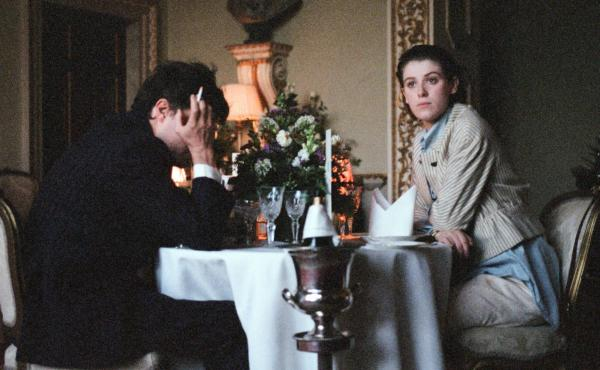 Anthony (Tom Burke) and Julie (Honor Swinton Burne) navigate a toxic romance in Joanna Hogg's The Souvenir.