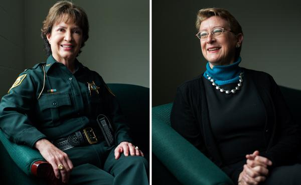 Alachua County Sheriff Sadie Darnell (left) and Dr. Nancy Hardt, University of Florida.
