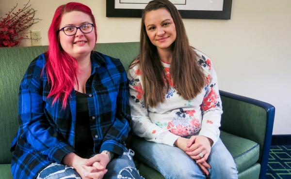 "Jamie Ruppert (R) was featured in an NPR story about Obama voters who supported Donald Trump in last year's presidential election. Amy Whitenight (L) labeled Ruppert an ""idiot"" in a comment on NPR's Facebook page. They recently met in person to talk about"