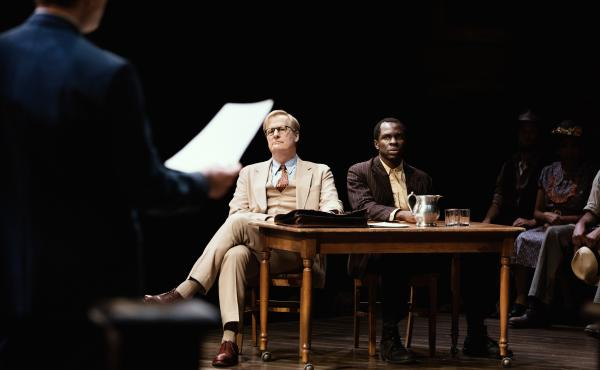 The new Broadway adaptation of To Kill a Mockingbird features Jeff Daniels as Atticus Finch and Gbenga Akinnagbe as Tom Robinson.