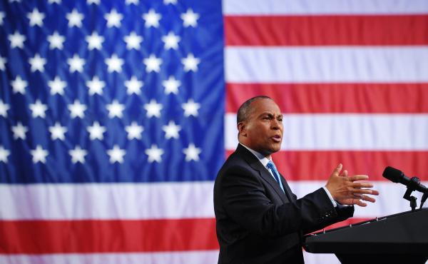 """Former Massachusetts Governor Deval Patrick, pictured above at a 2011 fundraiser, announced this week he would not seek the presidency. """"The process is cruel,"""" he said."""