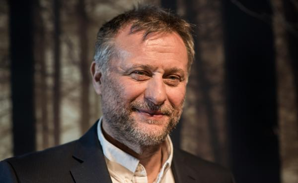 Actor Michael Nyqvist poses for photos in Munich in 2015.