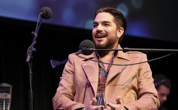 Adam Lambert appears on Ask Me Another at the Balboa Theatre in San Diego, California.