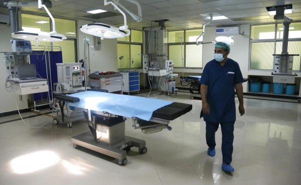 A newly-opened COVID-19 hospital in Kabul. Dr. Wahid Majrooh, the acting minister of public health in Afghanistan, must address the pandemic's toll at a time when the Taliban takeover has triggered a freeze in hundreds of millions of dollars in health-car