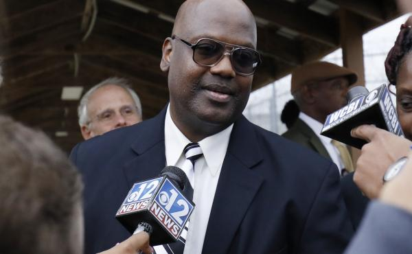 After six trials and 23 years behind bars, charges are being dropped against Curtis Flowers (pictured here in Dec. 2019) over a 1996 quadruple killing in Mississippi. The U.S. Supreme Court struck down a conviction last summer, citing among other things,