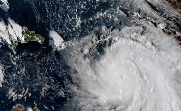 Hurricane Maria, shown here as it neared Dominica on Sept. 18, is one of the storm names that has been retired.
