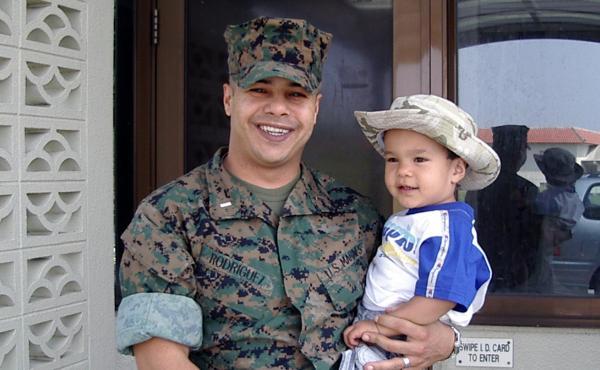 Ernesto Rodriguez and his son, Sebastian, when Sebastian was 2 years old.
