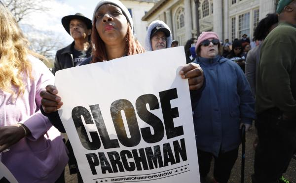Attendees at a January rally at the Mississippi Capitol in Jackson called for the state to close the Mississippi State Penitentiary in Parchman, where a number of deaths have occurred.