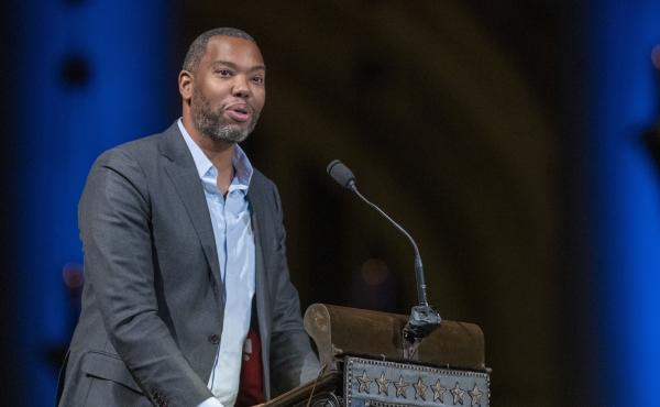 Author Ta-Nehisi Coates, seen here in 2019, also will join the faculty of Howard University.