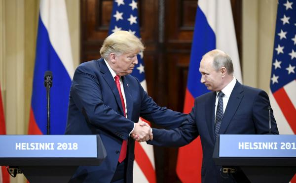 President Trump drew widespread criticism for his remarks at a joint press conference in Helsinki on Monday with Russian President Vladimir Putin.