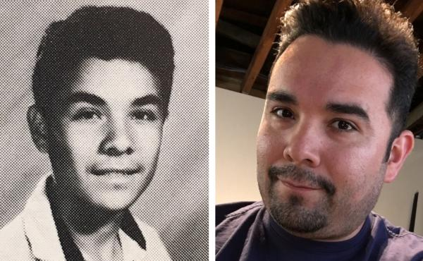 Gilbert Monterrosa was 15 years old (left, from his high school yearbook in 1992) during the Los Angeles Riots. He and some friends decided to loot a Fedco department store where he found something unexpected — Nirvana's album, Nevermind.