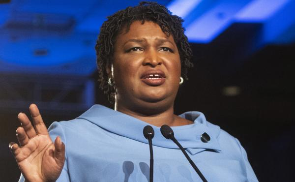 In mentioning voting in her Democratic response to the State of the Union, Stacey Abrams, pictured on election night in 2018, voiced what was already becoming increasingly clear: Elections will be a key part of Democratic messaging in the coming years.