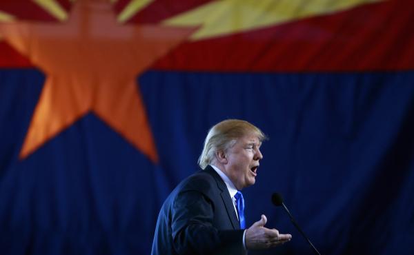 Donald Trump campaigns in Arizona in December 2015.