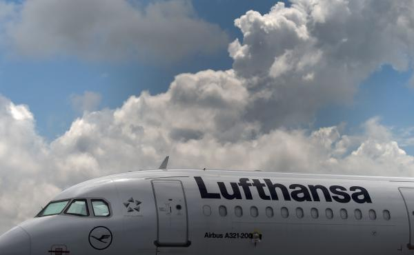 An Airbus aircraft of the German airline Lufthansa is parked at the Franz-Josef-Strauss airport in Munich, Germany, earlier this month.