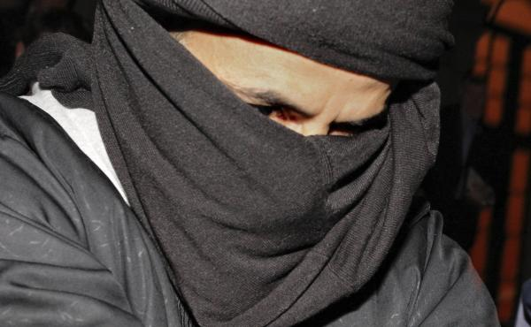 """Ali Charaf Damache, known as """"Black Flag,"""" arrives at the courthouse in Waterford, Ireland, in 2010. Damache appeared in a Philadelphia federal courtroom Friday on terrorism-related charges."""