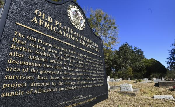 Many of the survivors of the Clotilda voyage are buried in Old Plateau Cemetery, near Mobile, Ala. The Alabama Historical Commission announced Wednesday that researchers had identified the vessel after months of work.