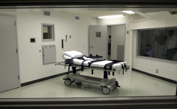 The lethal injection chamber at Holman Correctional Facility in Atmore, Ala., as seen in 2002.