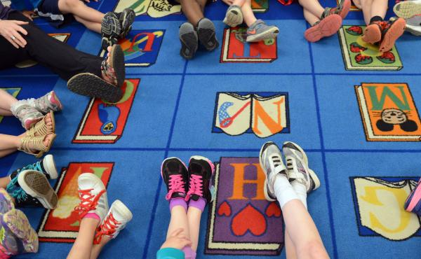 The new law will allow Alabama public schools to offer yoga for students. Here, kids participate in a yoga class in Pennsylvania.