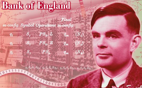 The Bank of England's new 50-pound note will feature mathematician Alan Turing, honoring the code-breaker who helped lay the foundation for computer science.