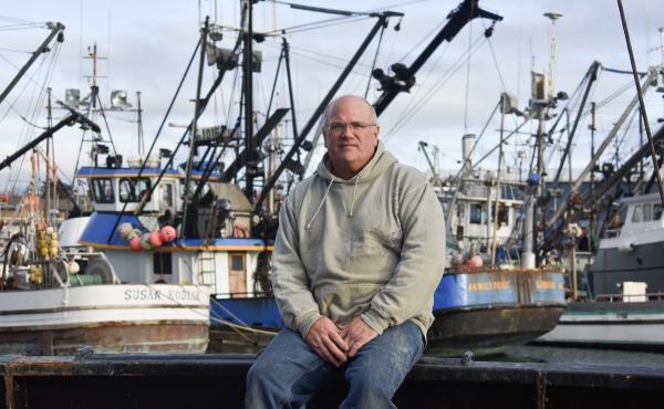 Cod fisherman Frank Miles on board his longline vessel, called the Sumner Strait, in Kodiak's harbor.