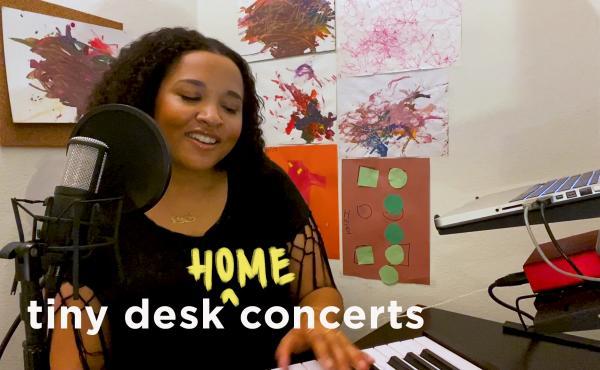 Alex Isley plays a Tiny Desk (Home) concert.
