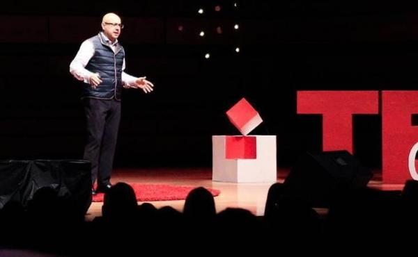 Ali Velshi on the TEDx stage
