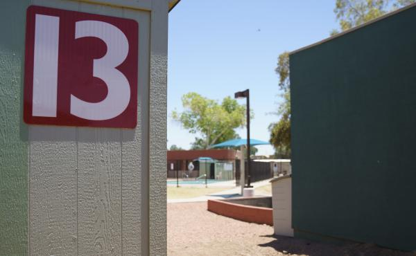 Buildings that house juveniles and operations on the grounds of Southwest Key Campbell, a shelter for children that have been separated form their parents in Phoenix, in a photograph from June.