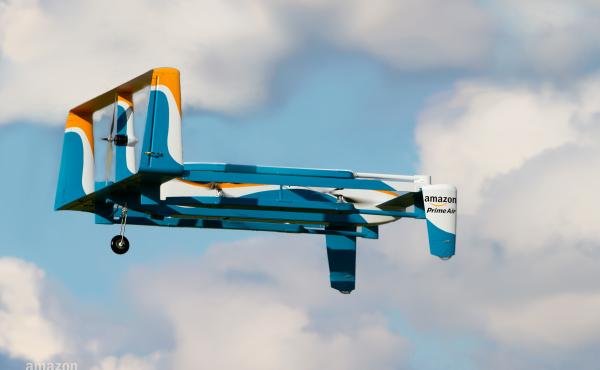 The company says its drones will fly no higher than 400 feet from the ground — low enough to avoid other aircraft but high enough to bypass traffic-clogged streets.
