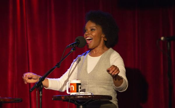 Amber Ruffin appears on Ask Me Another at the Bell House in Brooklyn, New York.