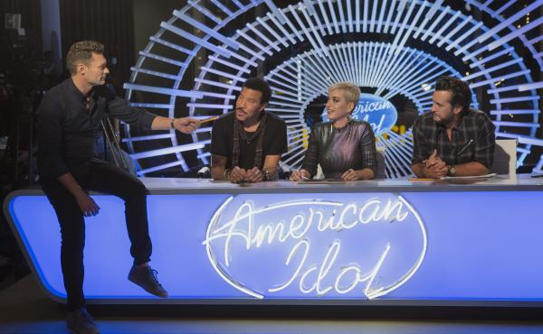 ABC's reboot of American Idol is hosted by Ryan Seacrest and judged by Lionel Richie, Katy Perry and Luke Bryan.
