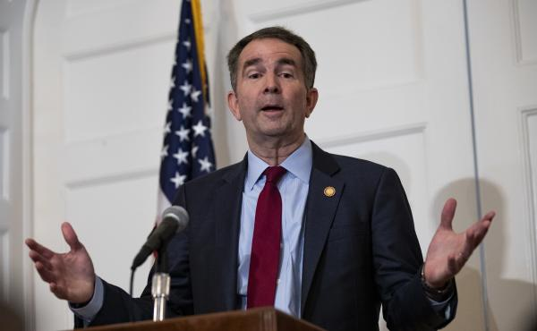 Virginia Gov. Ralph Northam speaks at a news conference at the governor's mansion earlier this month in Richmond.