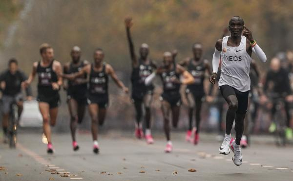 Last year, Eliud Kipchoge became the first athlete to run a marathon in less than two hours. He was wearing a type of shoe that reportedly will not be allowed in elite competition in the future.