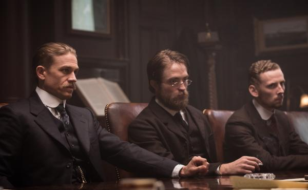 Post-Edwardian Homesick Blues: Fawcett (Charlie Hunnam), Costin (Robert Pattinson) and Manley (Edward Ashley) in The Lost City of Z.