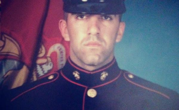 Ajmal Achekzai, pictured in 2000 at the Marine Corps Recruit Depot, in San Diego, Calif.