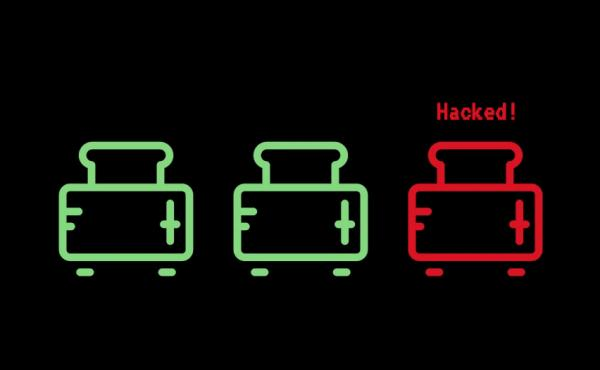 Journalist Andrew McGill wanted to see if it was possible to hack a virtual toaster, after major servers were downed by connected appliances. He said it took less than an hour for hackers to find it.