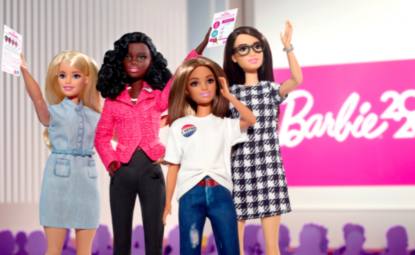For the first time this year, Candidate Barbie comes with a whole campaign team