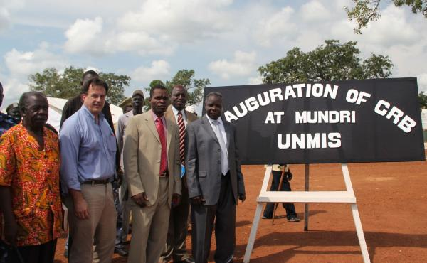 David Gressly (second from left) in South Sudan in 2010. Until recently, Gressly was second in command of the U.N. mission in Congo. On May 23, he was appointed emergency Ebola coordinator.