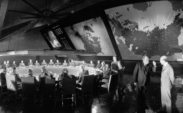 Since Aug. 6, 1945, artists of every stripe have had to reckon with a world forever altered by nuclear weapons — Hollywood included. Above, Stanley Kubrick's 1964 film, Dr. Strangelove or: How I Learned to Stop Worrying and Love the Bomb.