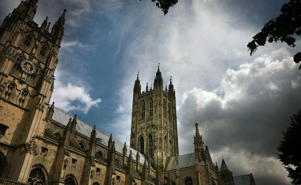 Canterbury Cathedral, the mother church of the international Anglican Communion, stands under clouds in 2008, in Canterbury, England. A church meeting this week on the issue of same-sex marriage has resulted in a three-year sanction of the Episcopal Churc